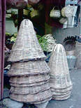 Conical baskets made of cane