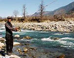 Angling in Beas river - Kullu Valley